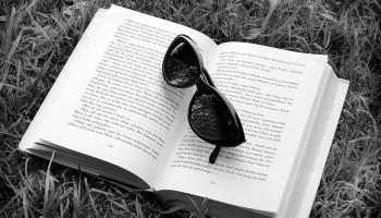 Buch mit Sonnenbrille Lesen,Sonnenbrille,Buch,BŸcher,Buecher,Freizeit,Urlaub,Entspannen,Entspannung,Symbolisch Copyright (2000) by BilderBox; Erwin Wodicka; A- 4062 Thening